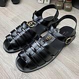 Сандалии Gucci Rubber Buckle Strap Black, фото 8