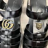Сандалии Gucci Rubber Buckle Strap Black, фото 9