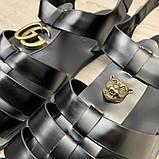 Сандалии Gucci Rubber Buckle Strap Black, фото 10