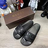 Шлепанцы Gucci Logo Rubber Black, фото 2