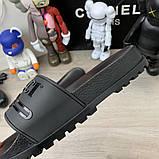 Шлепанцы Gucci Logo Rubber Black, фото 5