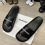 Шлепанцы Balenciaga Logo Black, фото 2
