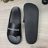 Шлепанцы Balenciaga Logo Black, фото 5