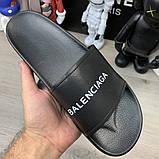 Шлепанцы Balenciaga Logo Black, фото 8