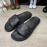 Louis Vuitton Waterfront Slide Sandals Monogram Eclipse, фото 3