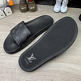 Louis Vuitton Waterfront Slide Sandals Monogram Eclipse, фото 8