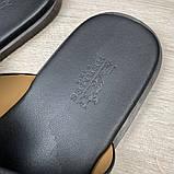 Шлепанцы Hermes Izmir Leather Black, фото 8