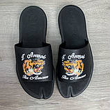 Шлепанцы Gucci GG Supreme Tigers Black, фото 8