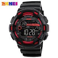 Skmei 1243 champion черные с красным мужские спортивные часы, фото 1