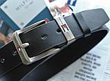 Мужской стильный ремень Tommy Hilfiger black, фото 2