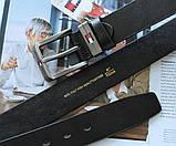 Мужской стильный ремень Tommy Hilfiger black, фото 3