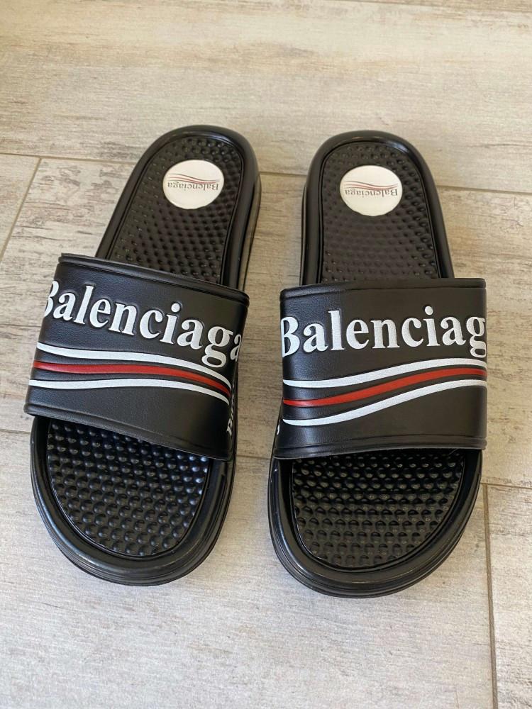 Balenciaga Slide Sandal Logo Black