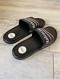 Balenciaga Slide Sandal Logo Black, фото 2