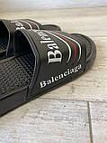 Balenciaga Slide Sandal Logo Black, фото 4