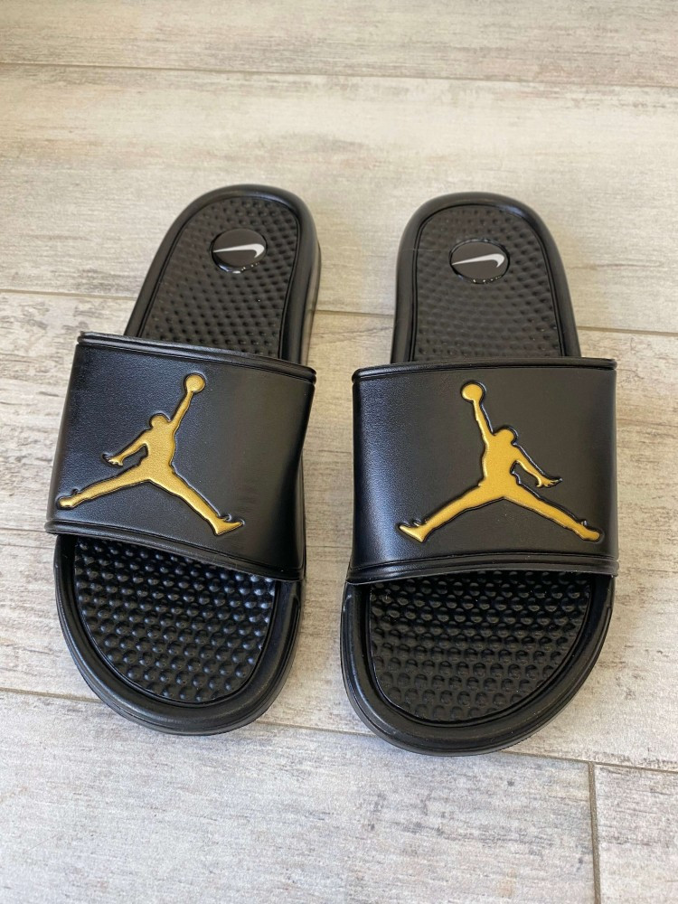 Jordan Slide Sandal Logo Gold/Black