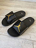 Jordan Slide Sandal Logo Gold/Black, фото 6