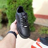 Чоловічі зимові кросівки Air Force білі з чорним, фото 4