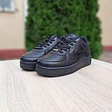 Чоловічі зимові кросівки Air Force білі з чорним, фото 10