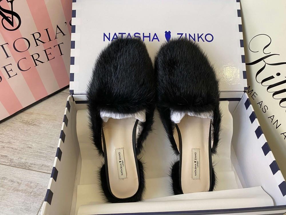 Natasha Zinko Slippers Pantera Black