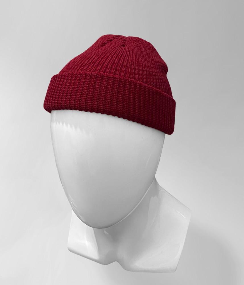 Укороченная шапка (Бордовая)