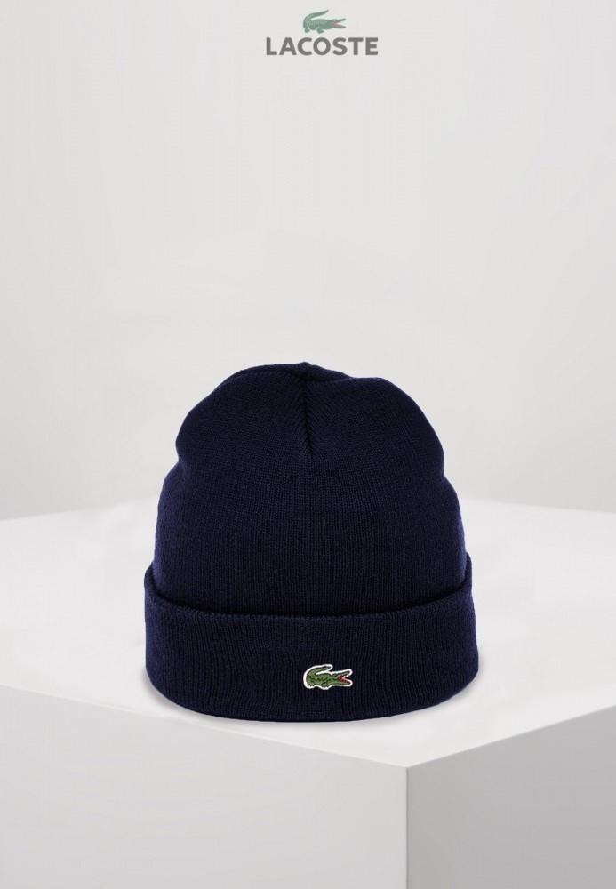Lacoste шапка унисекс (Темно-синяя)