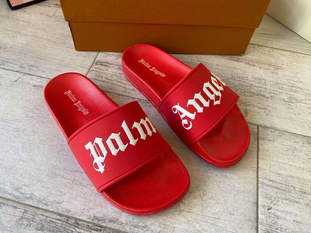 Palm Angels Sliders Logo Red