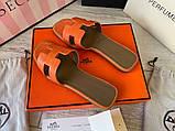 Hermes Oran Sandal H Croco Red, фото 2