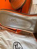 Hermes Oran Sandal H Croco Red, фото 4