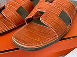 Hermes Oran Sandal H Croco Red, фото 5