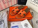 Hermes Oran Sandal H Croco Red, фото 6