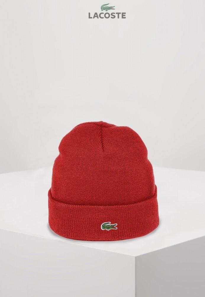 Lacoste шапка унисекс (Красная)