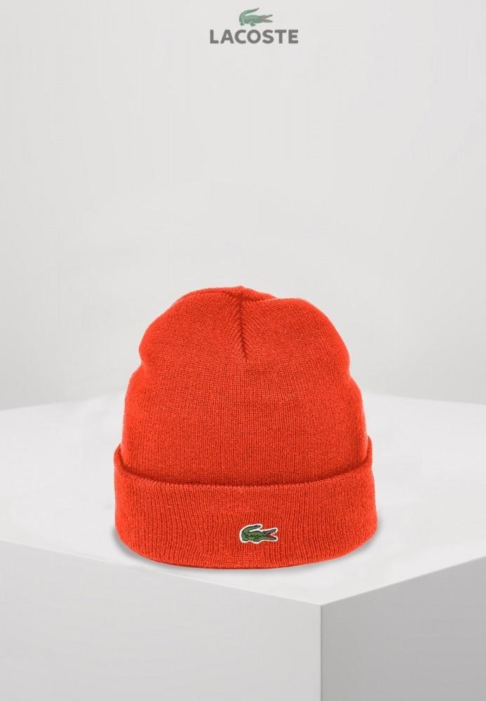 Lacoste шапка унисекс (Оранжевая)