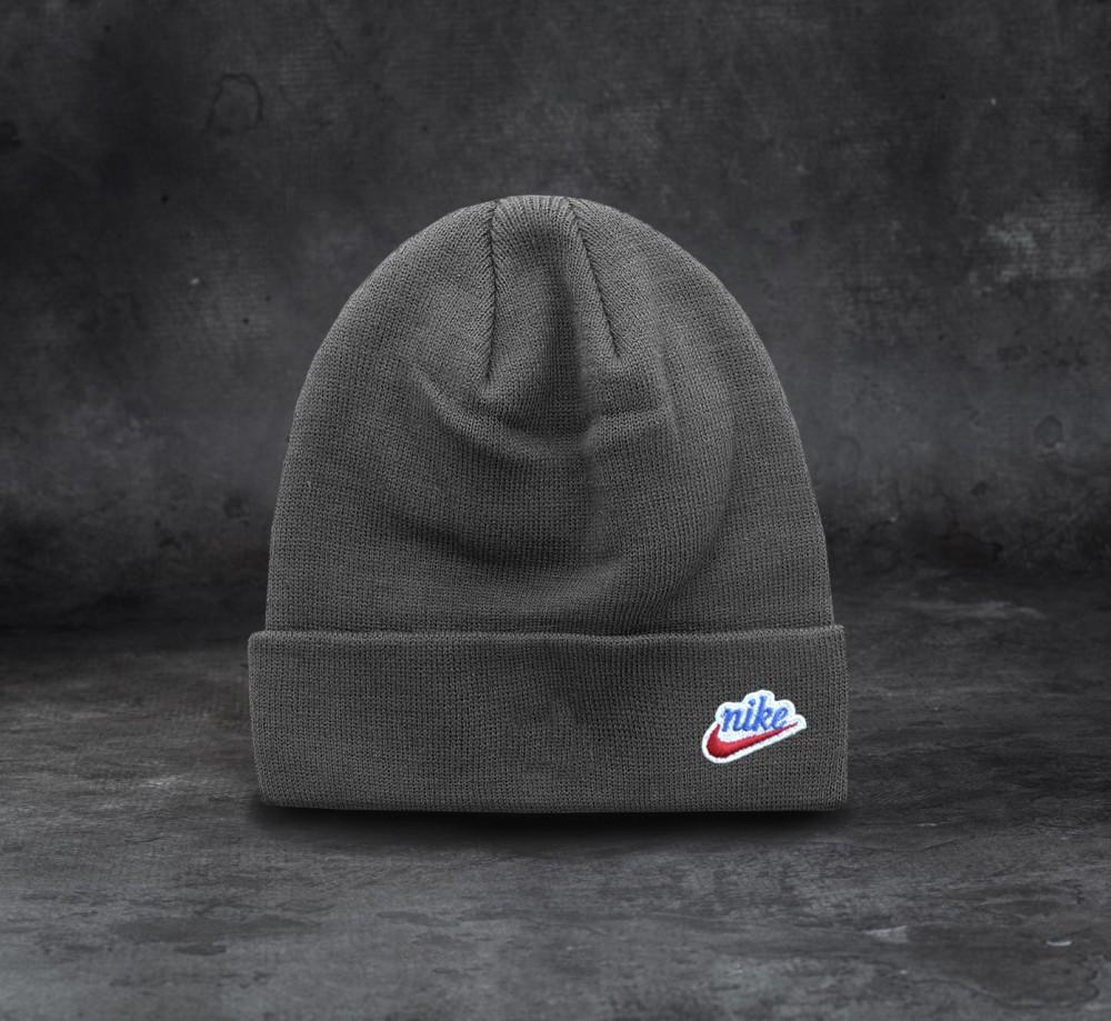 Nike шапка унисекс (Серая)