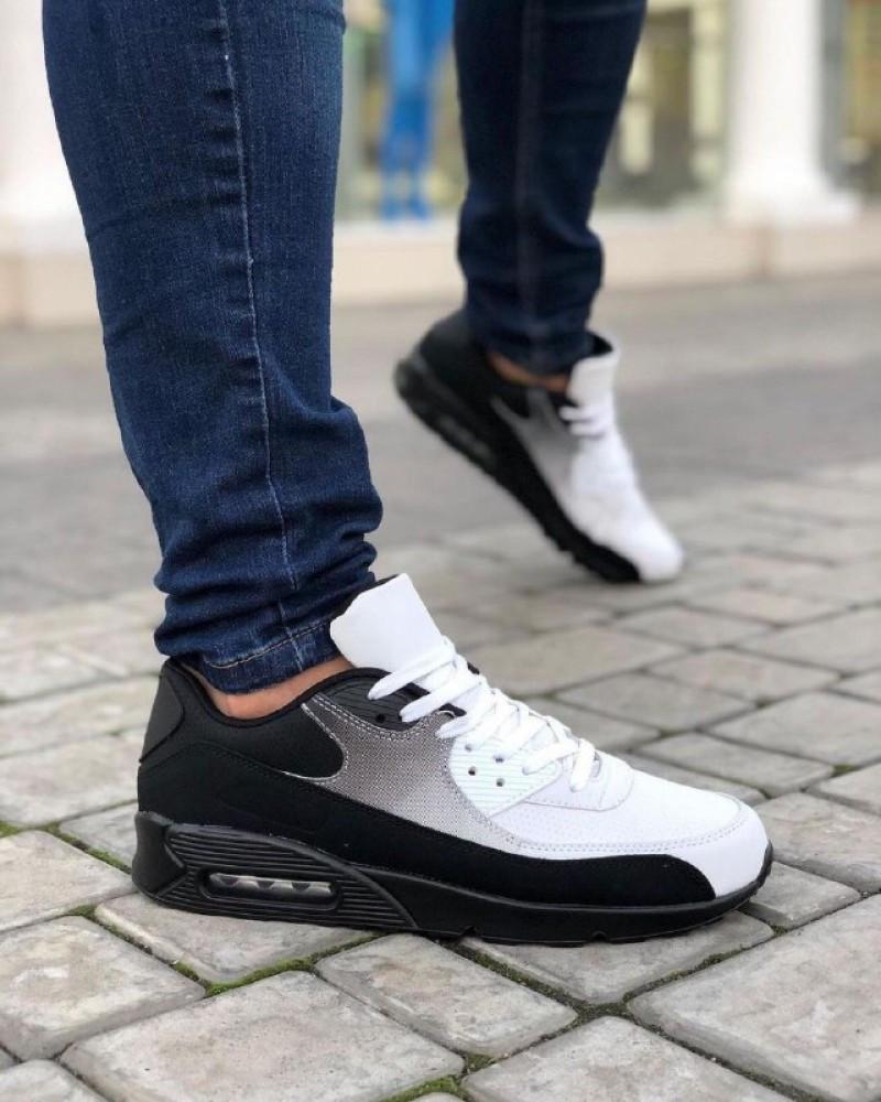 Мужская Обувь АирМах нью Черно-белые