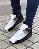 Мужская Обувь АирМах нью Черно-белые, фото 3