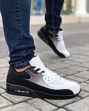 Мужская Обувь АирМах нью Черно-белые, фото 4