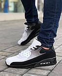 Мужская Обувь АирМах нью Черно-белые, фото 6