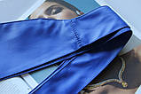 Широкий пояс кушак женский ярко синий, фото 2