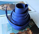 Широкий пояс кушак женский ярко синий, фото 3