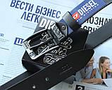 Кожаный мужской ремень Diesel черный, фото 2