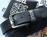 Кожаный мужской ремень Diesel черный, фото 3