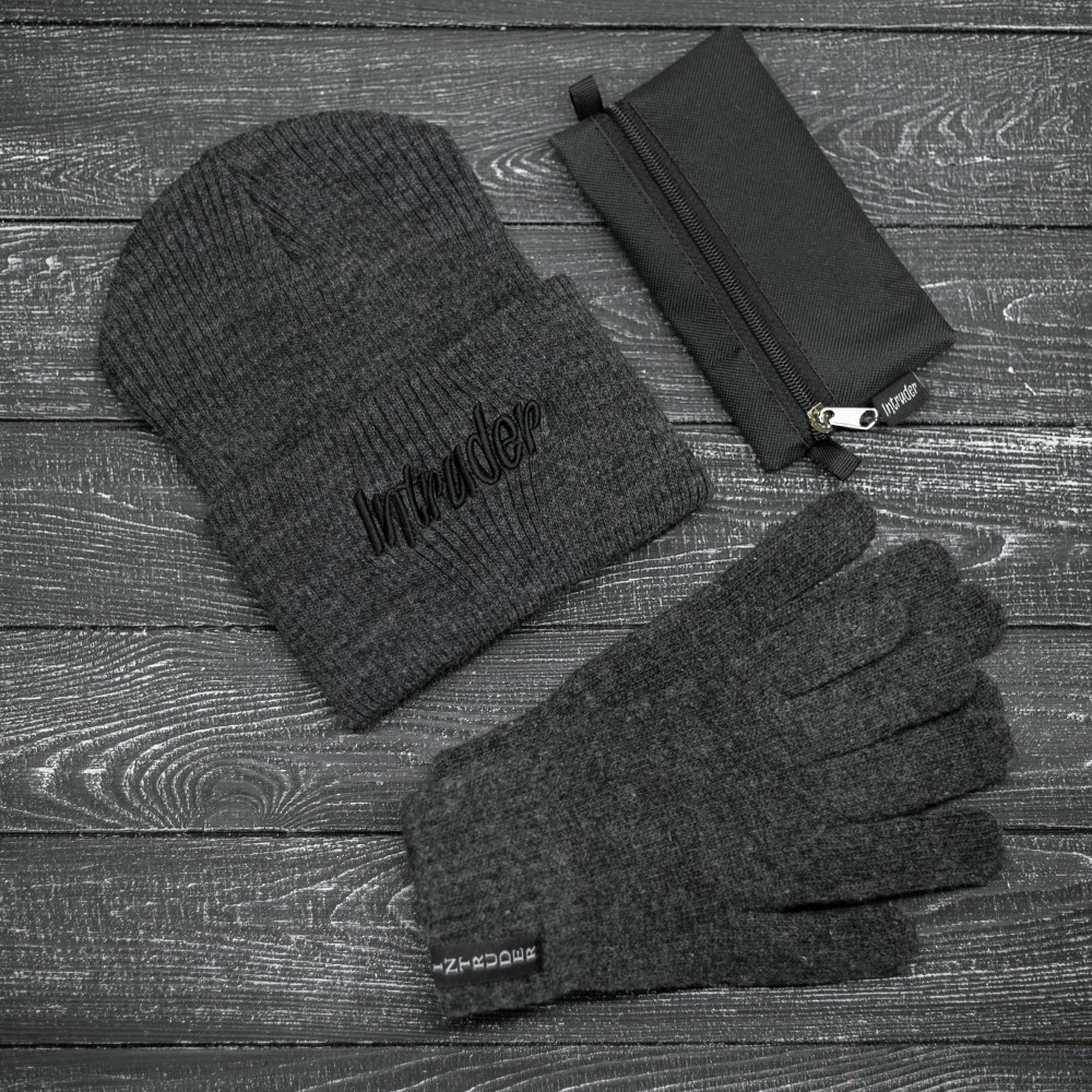 """Комплект """" Intruder """" серый big logo+ ключница в подарок"""