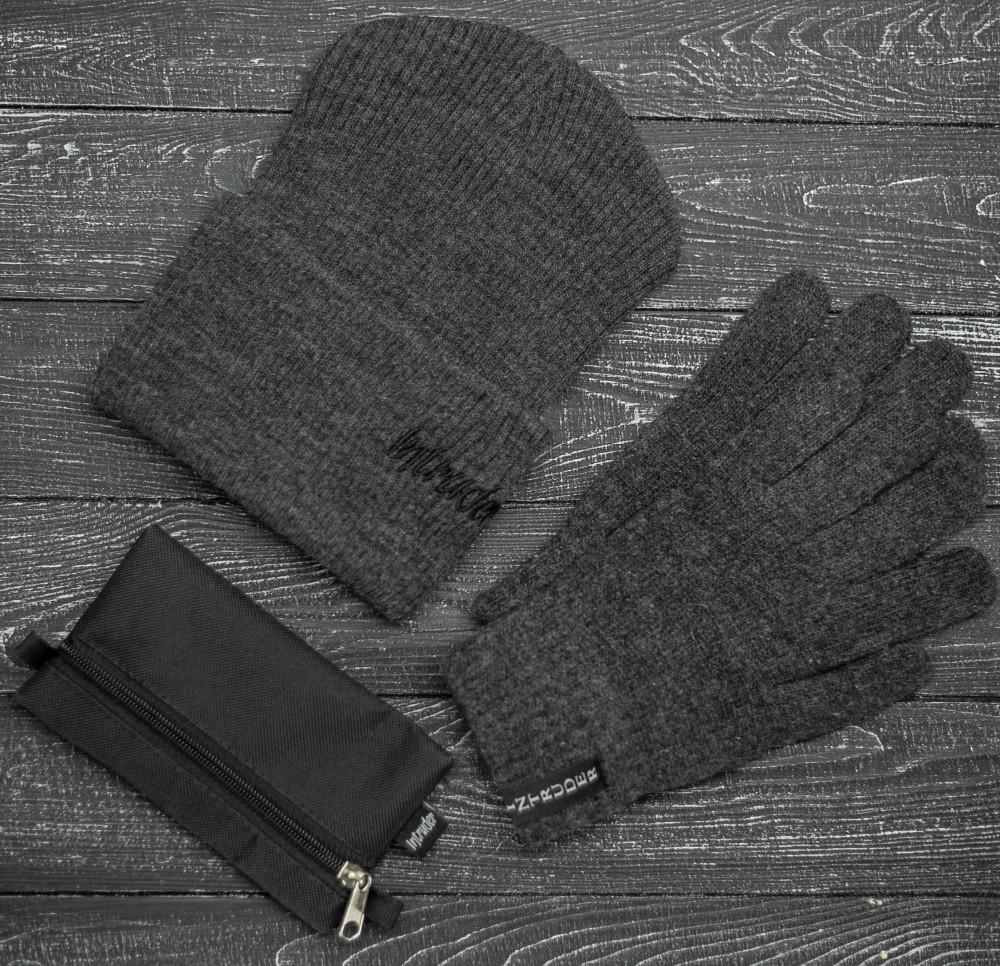"""Комплект """" Intruder """" серый small logo+ ключница в подарок"""