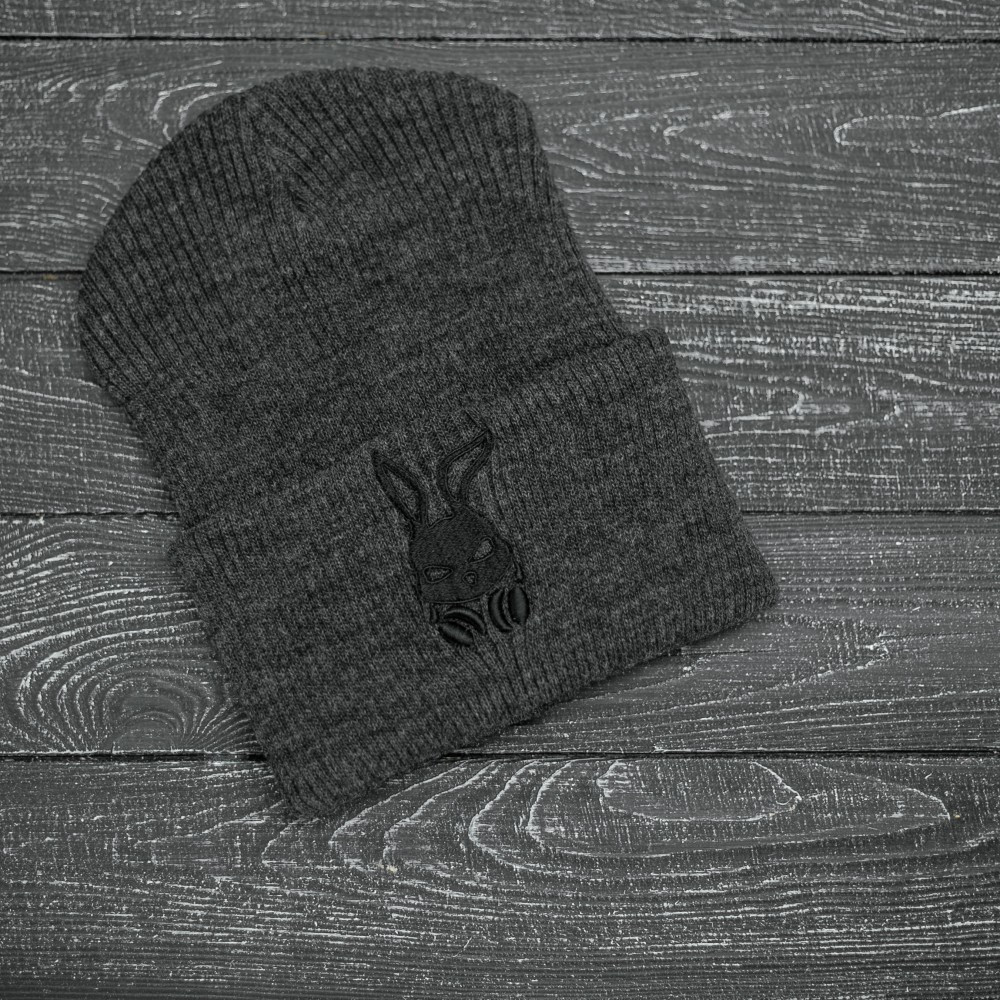 """Шапка """" Intruder """" серая Bunny logo"""