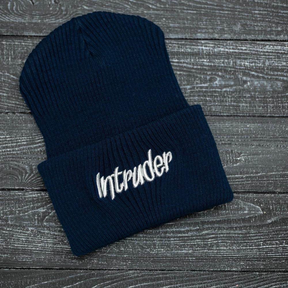 """Шапка """" Intruder """" синяя big logo"""