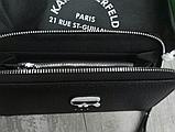 Кошелек Karl Lagerfeld из экокожи черный, фото 3