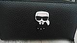 Кошелек Karl Lagerfeld из экокожи черный, фото 4