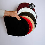 Шапка трикотажная двуслойная чёрная L19001, фото 2