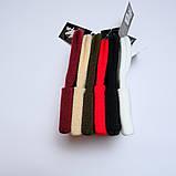 Шапка трикотажная двуслойная чёрная L19001, фото 4