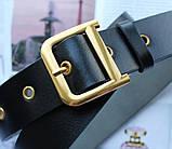 Женский ремень Dior пряжка бронза черный, фото 2